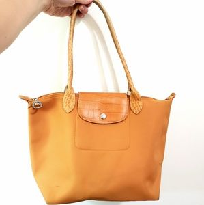 Longchamp   Orange Tote Bag